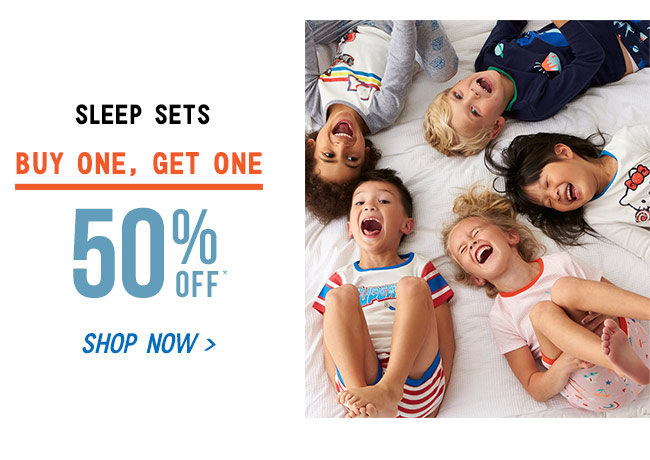 Shop Sleep Sets - Buy 1, Get 1 50% Off