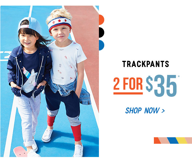 Shop Trackpants - 2 for $35