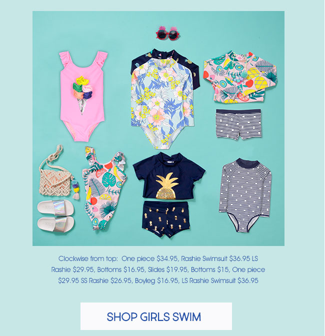 Shop Girls Swim
