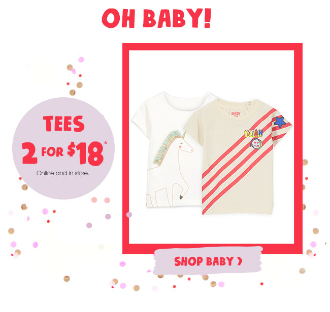 Shop Baby Tees 2 For $18