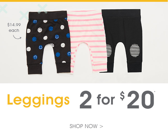 Shop Leggings 2 For $20