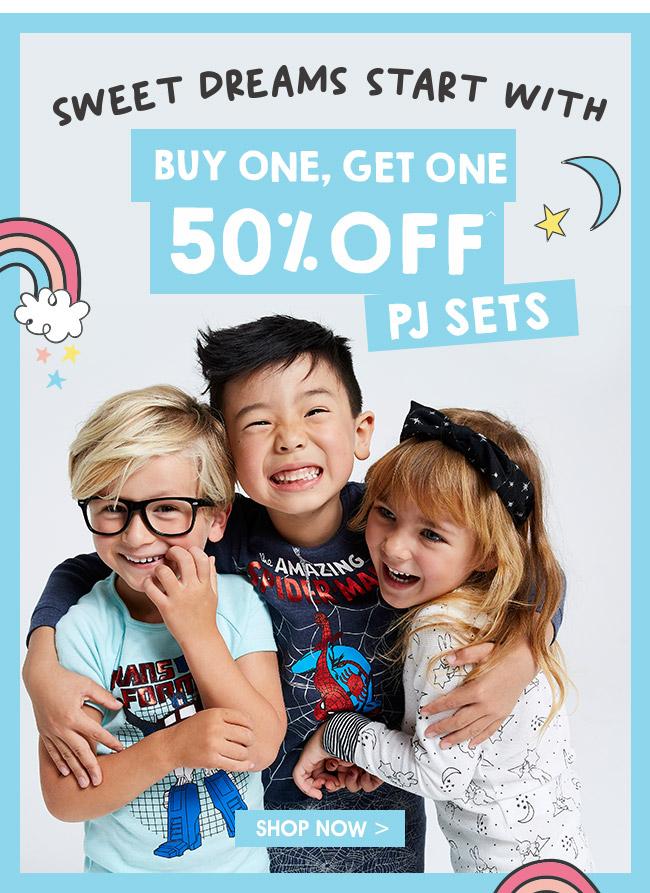 Shop Buy One, Get One 50% Off PJ Sets