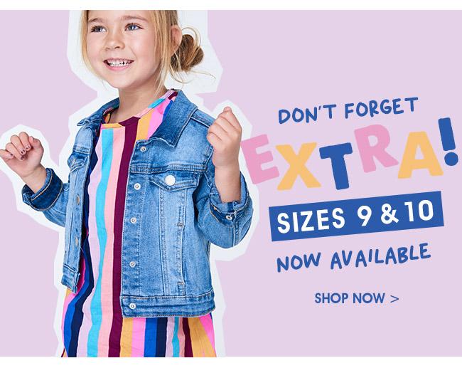 Shop Extra Sizes