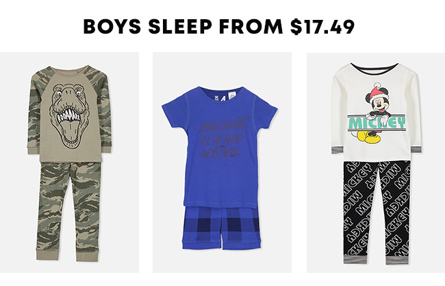 Shop  Boys Sleep