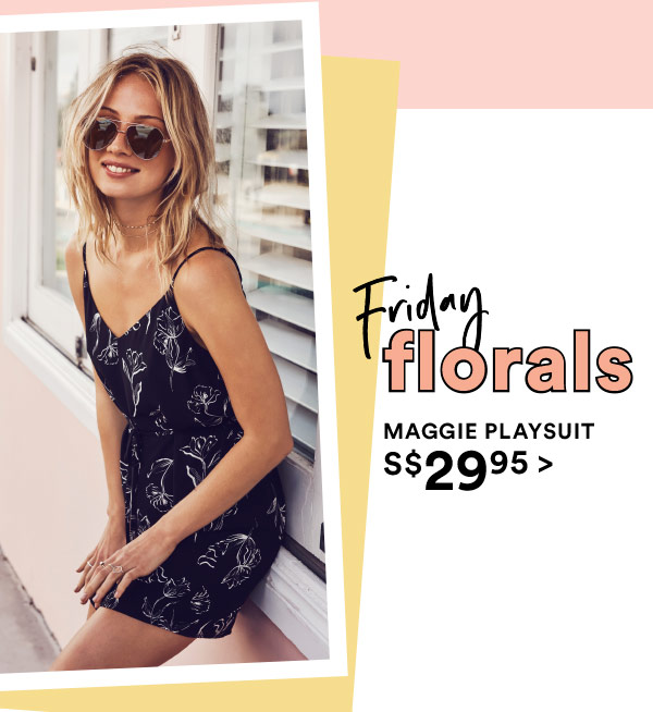 Friday Florals | Maggie Playsuit s$29.95