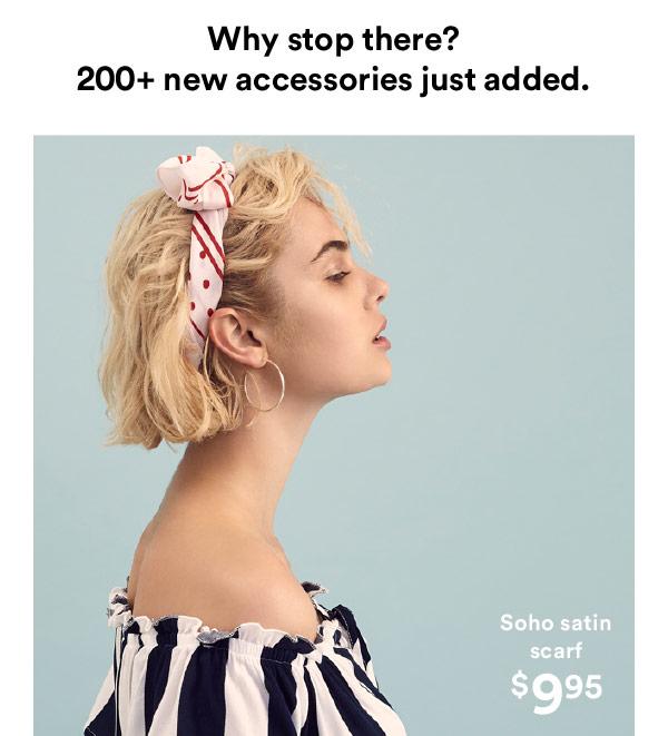 Soho satin scarf | Shop Now