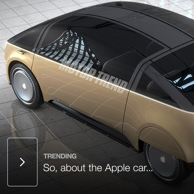 So, about the Apple car...