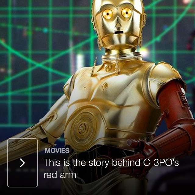 This is the story behind C-3PO's red arm