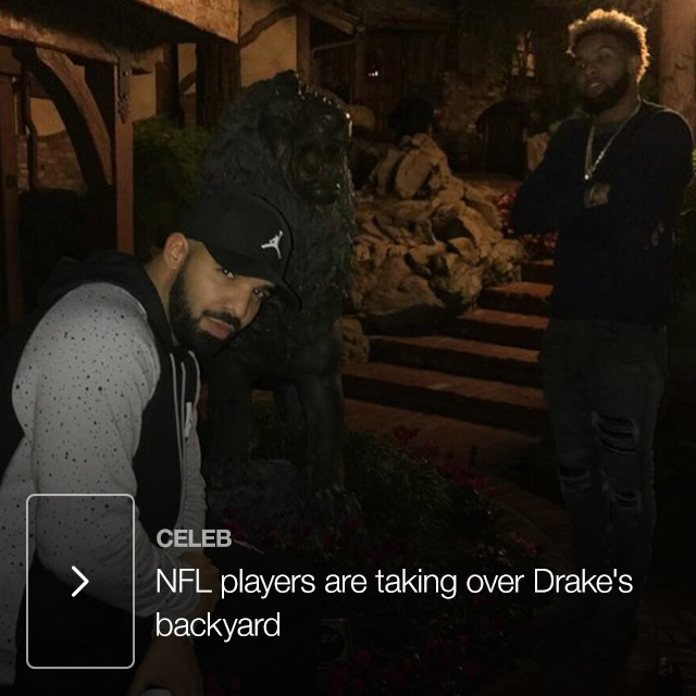 NFL players are taking over Drake's backyard