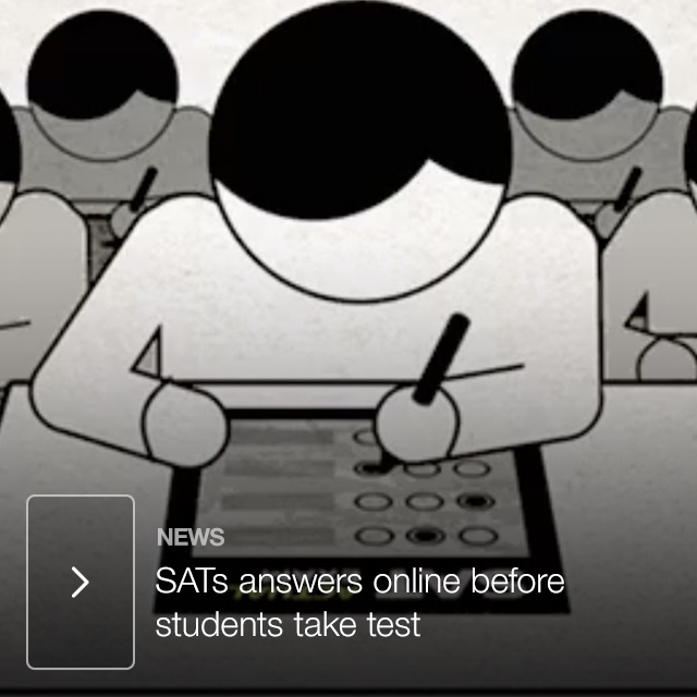 SATs answers online before students take test