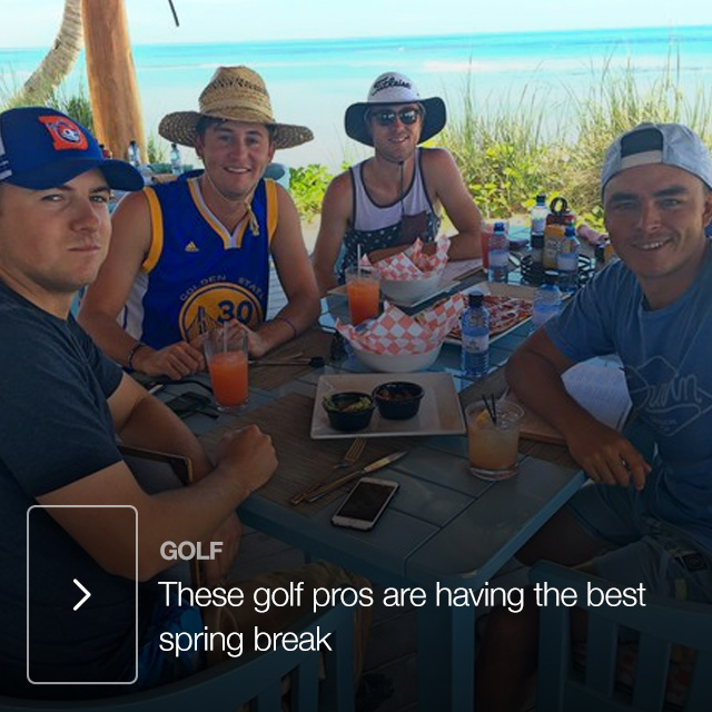 These golf pros are having the best spring break
