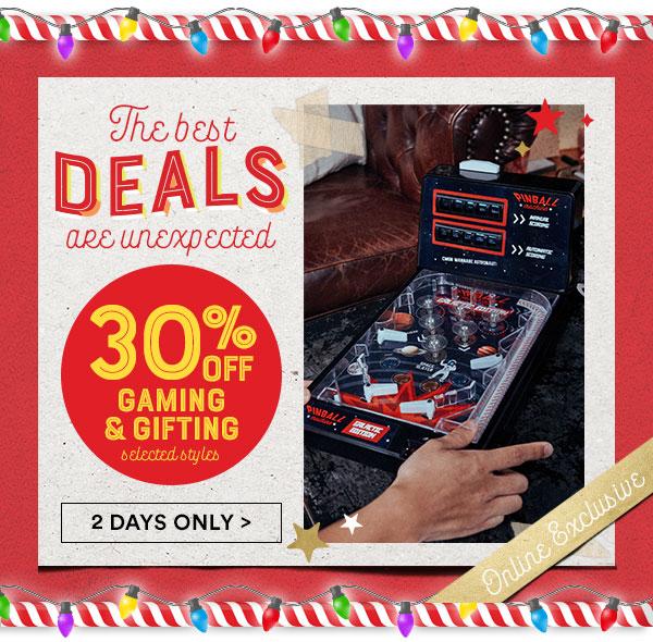 30% off Gaming and Gifting!