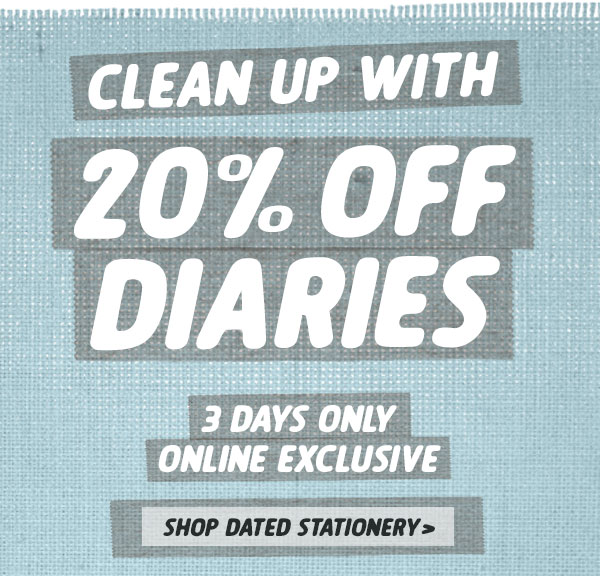 20% off Diaries!