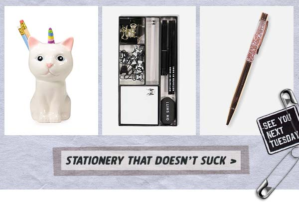 Shop some serious stationery!