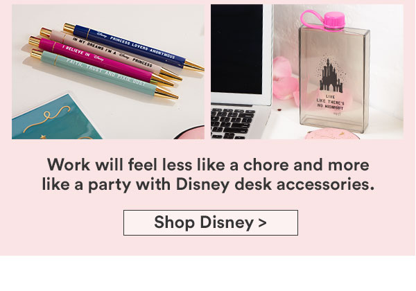 Your desk-tination for Disney stationery.