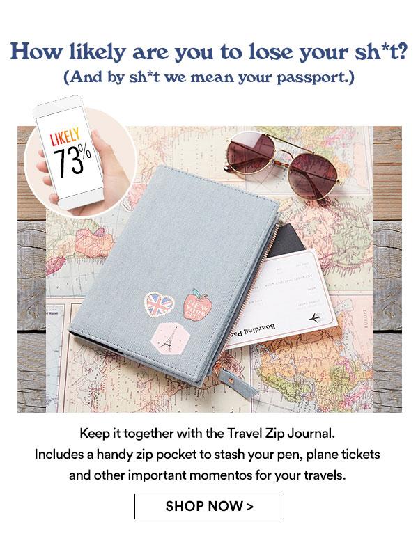 Shop Travel Zip Journals