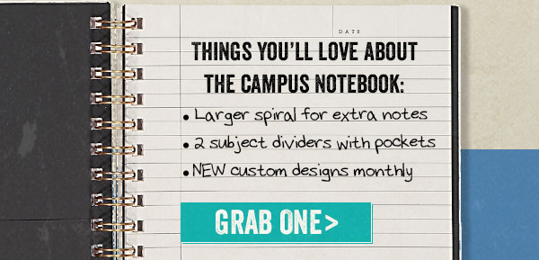 Campus notebooks, grab one now!