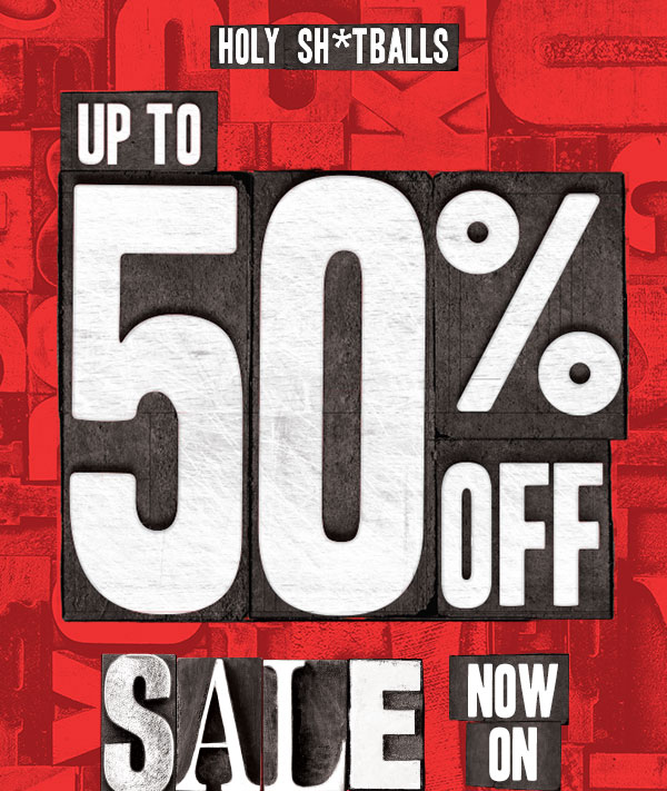 Up to 50% off Sale.