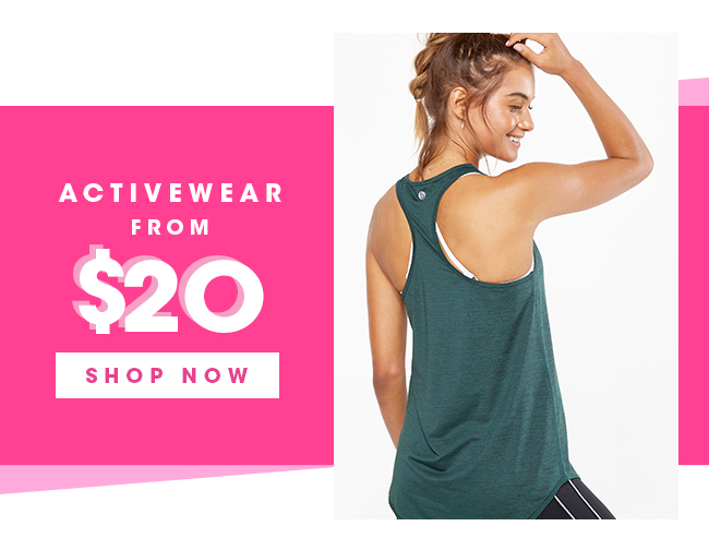Activewear From $20 | Shop Now