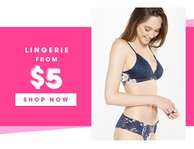 Lingerie From $5 | Shop Now