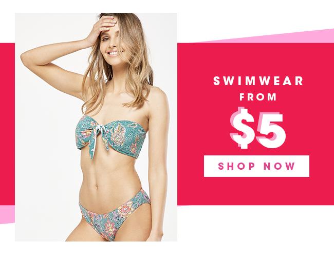 Swimwear From $5 | Shop Now