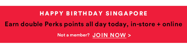 Earn Double Points All Day Today | Join Now