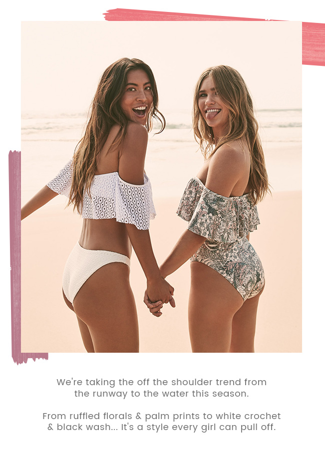 Off The Shoulder Trend // Shop Swimwear