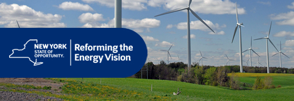 Clean Energy Landscape with the Reforming the Energy Vision Logo