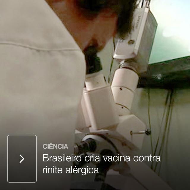 Brasileiro cria vacina contra rinite alérgica