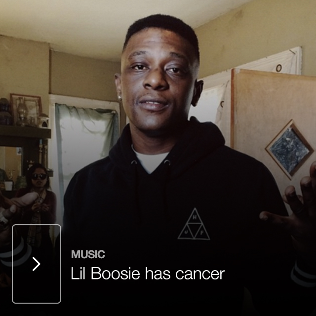Lil Boosie has cancer