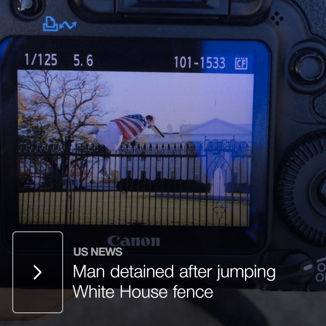 Man detained after jumping White House fence
